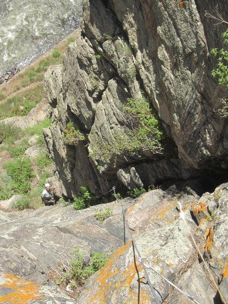 Rock Climbing Photo: Lin on P2