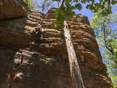Rock Climbing Photo: upper portion of the route