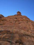 Rock Climbing Photo: single rap off the top