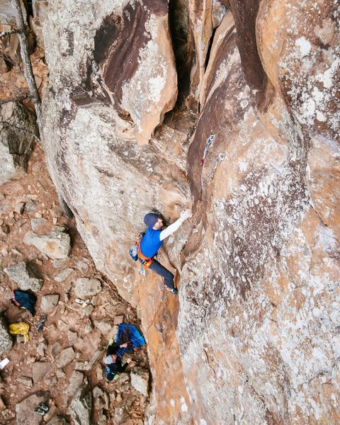 Rock Climbing Photo: Bottom portion of route