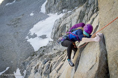 Rock Climbing Photo: Linda finishes up the last moves on the stellar fi...