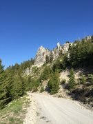 Rock Climbing Photo: Roadside Rock and the Pincer as seen from the road...