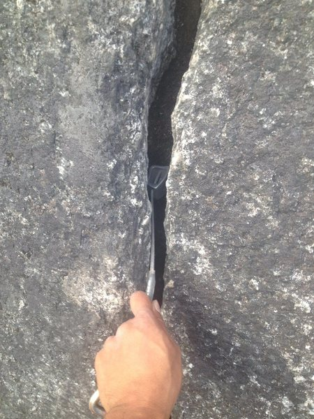 Rock Climbing Photo: Next one down goes it but it keeps sliding down th...