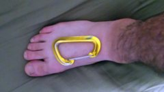 Rock Climbing Photo: Size and shape of foot and toebox