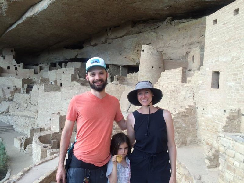 Behind us, the original rock climbers (Mesa Verde, colorado)