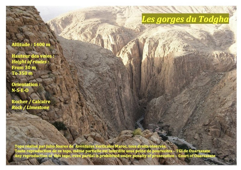 Climbing in Morocco Escalade au Maroc <br> Guidebook climbing in Todra gorges <br> Page 1