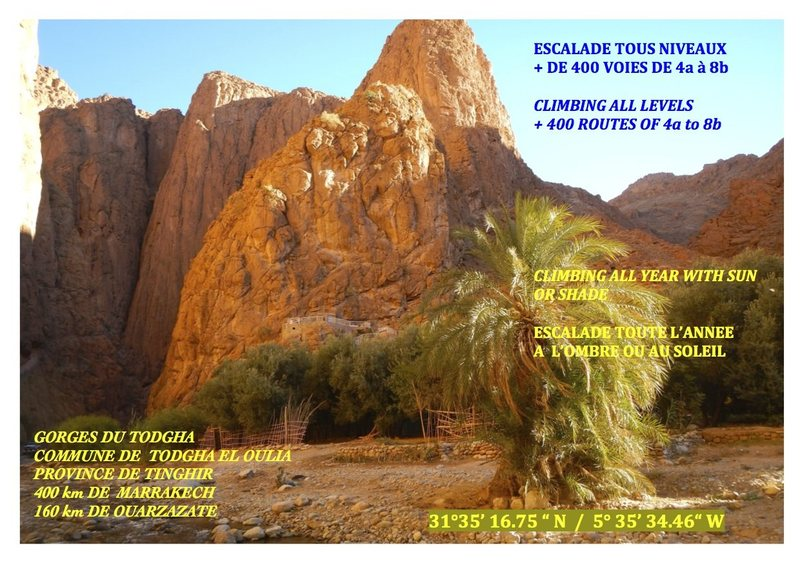 Climbing in Morocco Escalade au Maroc <br> Guidebook climbing in Todra gorges <br> Page 2
