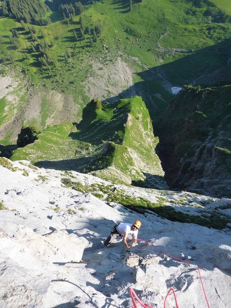 Rock Climbing Photo: Upwards on Chico Mendez 7a