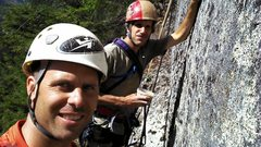 Rock Climbing Photo: This right after cleaning the pitch HITAGA. We rap...