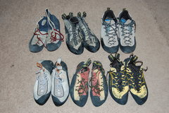 Rock Climbing Photo: Lots of shoes