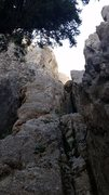 "Rock Climbing Photo: Looking up ""pitch one"" if your doing it ..."