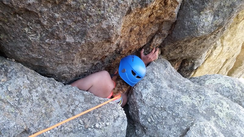 Rock Climbing Photo: The Worm Hole!