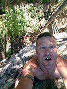 Selfies taken at top of White Whale.  Fun climb done with my son.... Love this area.