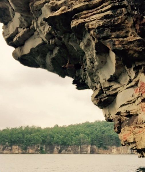 Rock Climbing Photo: Summersville Lake, West Virginia - Deep Water Solo...