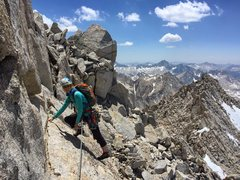 Finishing up NE Arete, Bear Creek Spire