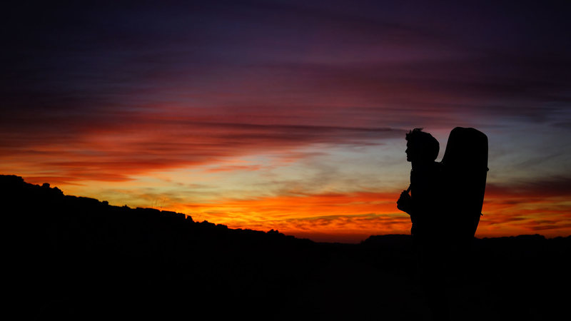 Rock Climbing Photo: Craig Faulhaber hiking out after a long day at The...