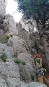 Rock Climbing Photo: Looking up the first pitch or the scramble, depend...