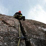 Rock Climbing Photo: Hand crack above the ledge