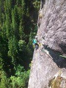 Rock Climbing Photo: Brian Ebert on P4.