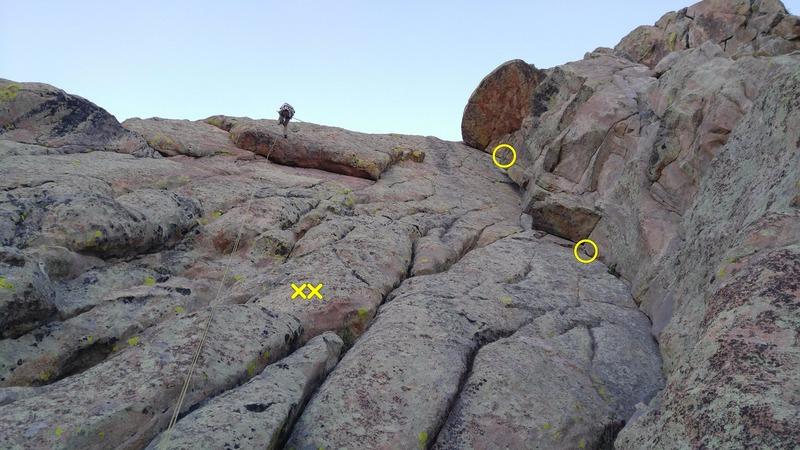 Rock Climbing Photo: The route and the rap line. When rapping from the ...