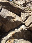 Rock Climbing Photo: A close up of the under cling section.
