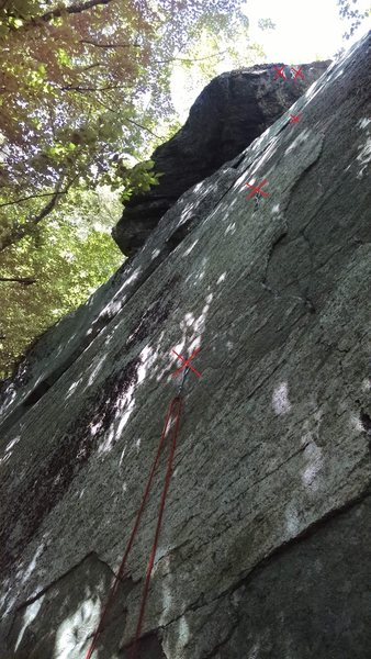 Rock Climbing Photo: marked the draws and anchors - really fun climb!