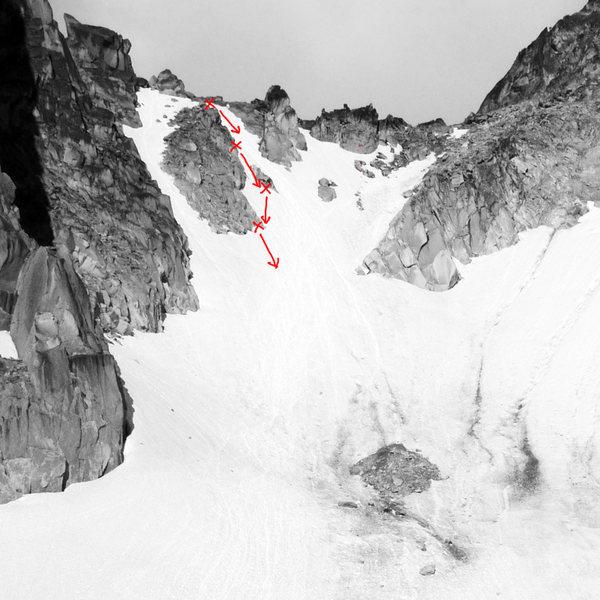 Rock Climbing Photo: Bugaboo-Snowpatch rappel anchors (2016)