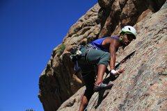 Rock Climbing Photo: On Matt's Crack.... not named after me, but ye...
