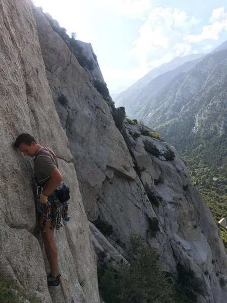 Rock Climbing Photo: The bottom section of the route