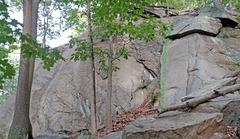 Rock Climbing Photo: El Cap and Left Flat Iron from SE: G. Left Flat Ir...