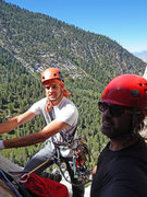 Miguel and me at belay top of p2.