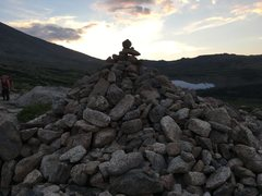 Rock Climbing Photo: Cairn on the way up to Long's.