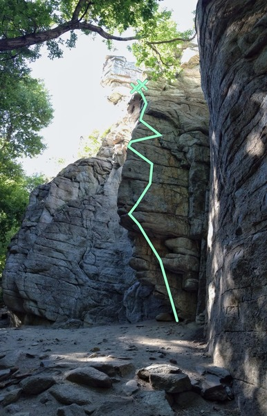 Rock Climbing Photo: Fishlips:  Get on the wall and work the obvious cr...