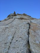 Rock Climbing Photo: Looking up at P5. The first section looked unlikel...