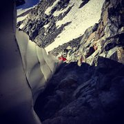 Rock Climbing Photo: Definitely had to climb over patches of snow to ge...