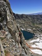 Rock Climbing Photo: Looking back at the traverse after the first two d...