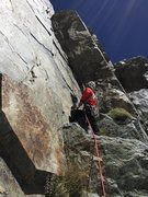 Rock Climbing Photo: My partner starting up the 3rd pitch (pitch off th...