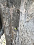 Rock Climbing Photo: Maury Birdwell following pitches 2 & 3.