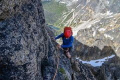 First pitch of Matriach-Macabre-Grimface traverse