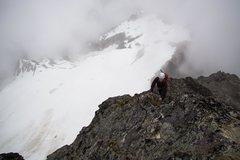 Rock Climbing Photo: East ridge of Alpha
