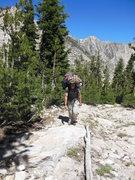 Rock Climbing Photo: Jeff packing light