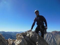 Rock Climbing Photo: Myself on the summit of the Hulk.
