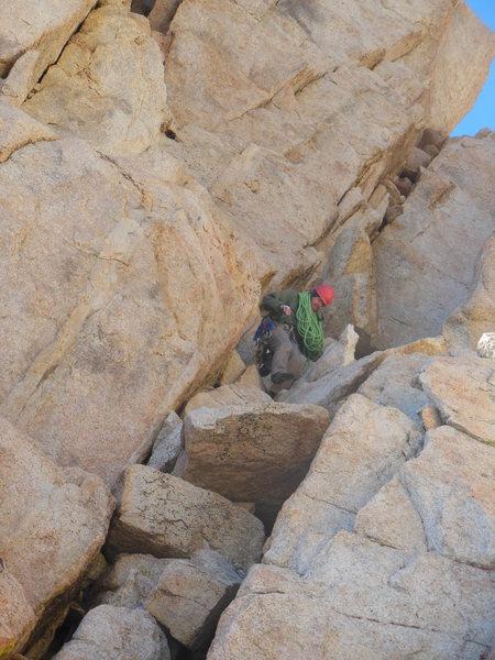 Rock Climbing Photo: Jeff on descent.