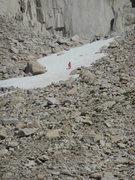 "Rock Climbing Photo: ""Pink Pants"" in full regalia."
