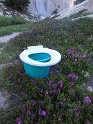 Rock Climbing Photo: Jeff's Alpine restroom facilities...