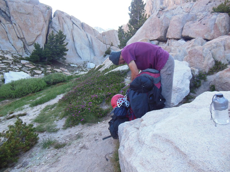 Rock Climbing Photo: Jeff Packing to go home.