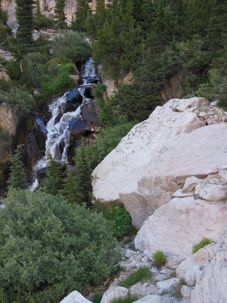 View of waterfall on way out.