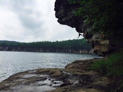 Rock Climbing Photo: Summersville Lake - Goofing Around