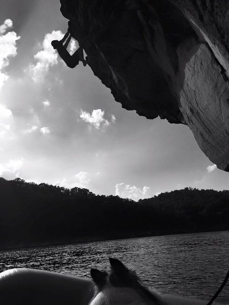 Rock Climbing Photo: DWS, Summersville Lake, West Virginia - This route...