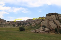 Rock Climbing Photo: The face of the wall facing toward the road. Kenne...